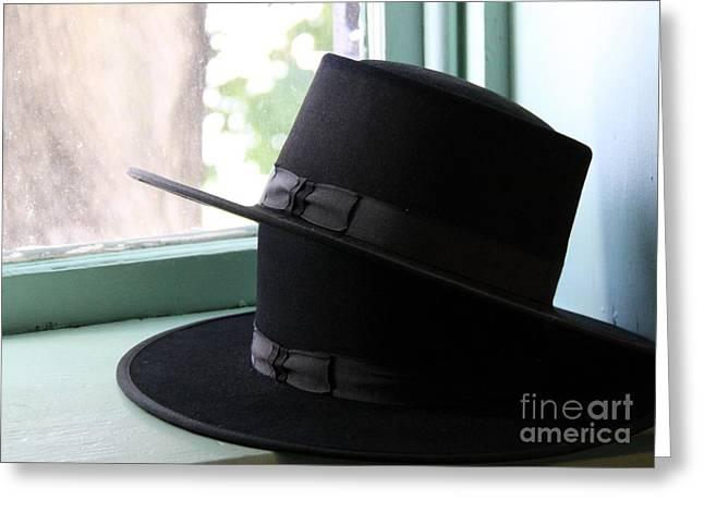 Amish Greeting Cards - Amish Hats Greeting Card by Gayle Johnson