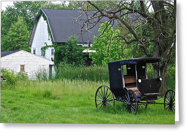 Barn Yard Greeting Cards - Amish Way of Life Greeting Card by Frozen in Time Fine Art Photography