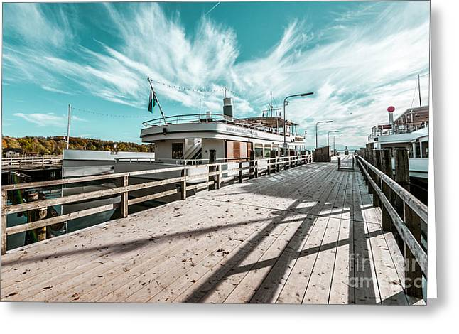 Steam Ship Greeting Cards - Ammersee fleet Greeting Card by Hannes Cmarits