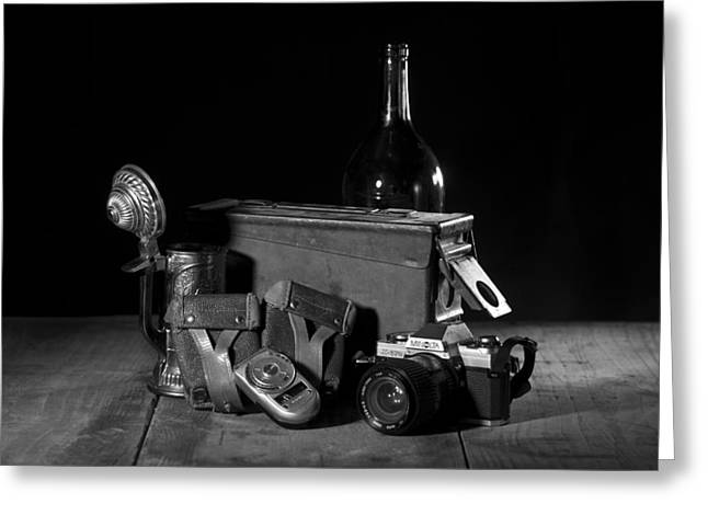 Stein Greeting Cards - Ammo Box Still Life No. 2 Greeting Card by Josh Campbell