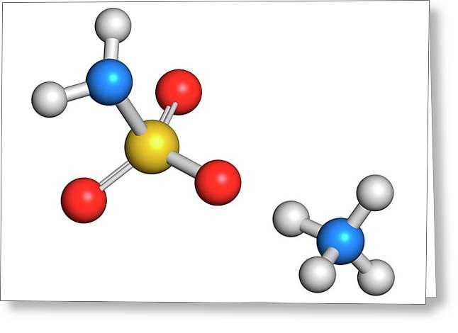Ammonium Sulfamate Herbicide Molecule Greeting Card by Molekuul
