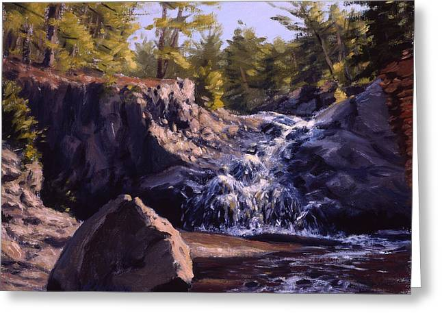 Breezy Greeting Cards - Amnicon River Waterfalls Greeting Card by Rick Hansen
