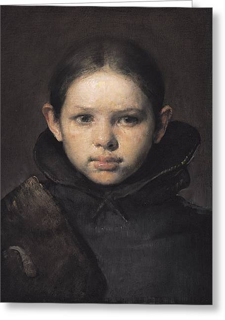 Figurative Greeting Cards - Amo Greeting Card by Odd Nerdrum