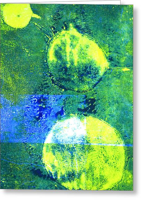 Single-celled Paintings Greeting Cards - Amoeba Abstract Art Greeting Card by Nancy Merkle