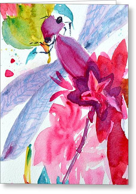 Brushtrokes Greeting Cards - Among The Peonies Greeting Card by Beverley Harper Tinsley