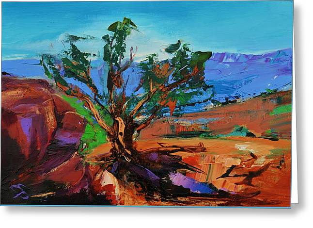 Among the Red Rocks - Arizona Greeting Card by Elise Palmigiani