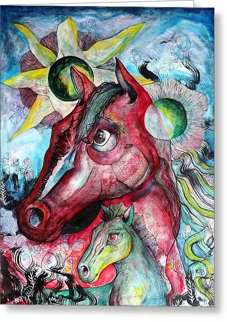 Lorenzo Muriedas Greeting Cards - Amor Natural Greeting Card by Lorenzo Muriedas