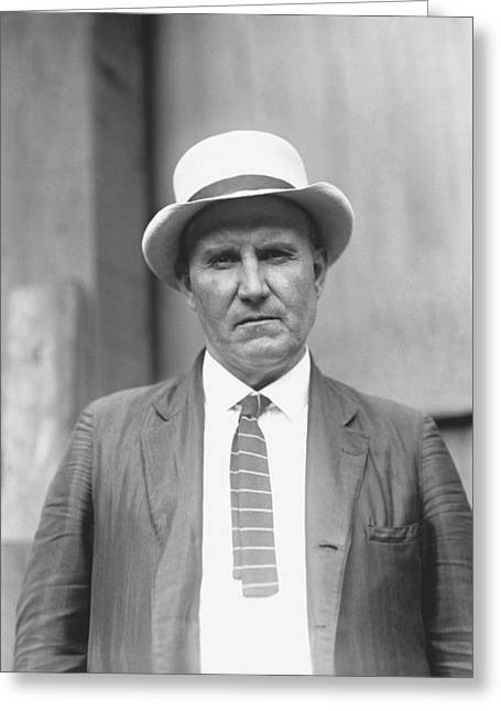 Picture Hat Greeting Cards - Amos Rusie Greeting Card by Retro Images Archive