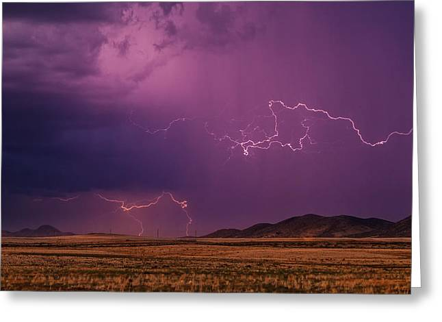 Summer Storm Greeting Cards - Amped Up Greeting Card by Medicine Tree Studios