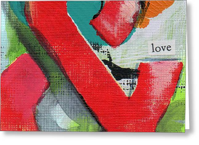 Ampersand Love Greeting Card by Linda Woods