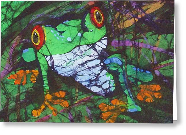 Amphibians Tapestries - Textiles Greeting Cards - Amphibia II Greeting Card by Kay Shaffer
