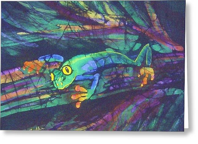 Amphibians Tapestries - Textiles Greeting Cards - Amphipia I Greeting Card by Kay Shaffer