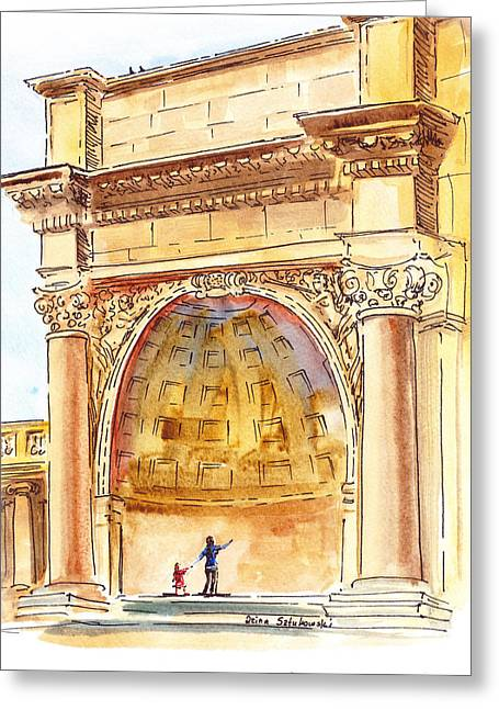Amphitheater In Golden Gate Park San Francisco  Greeting Card by Irina Sztukowski