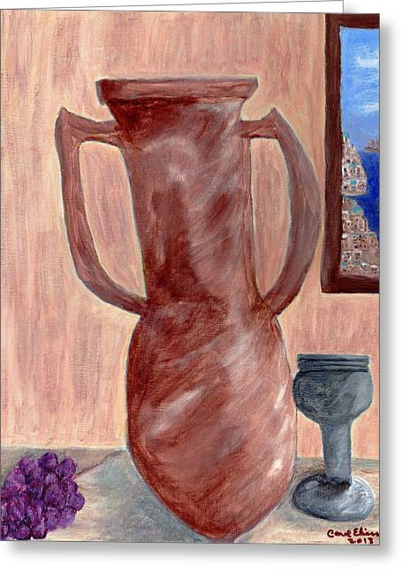 Amphora  Greeting Card by Carol  Eliassen