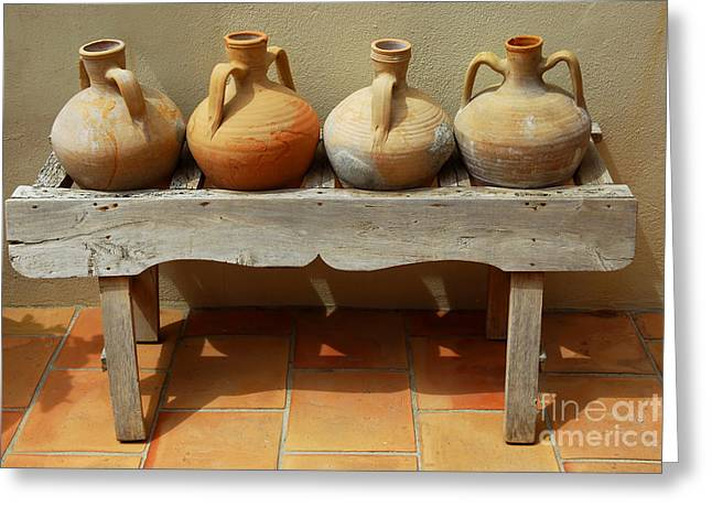 Ceramic Greeting Cards - Amphoras  Greeting Card by Elena Elisseeva