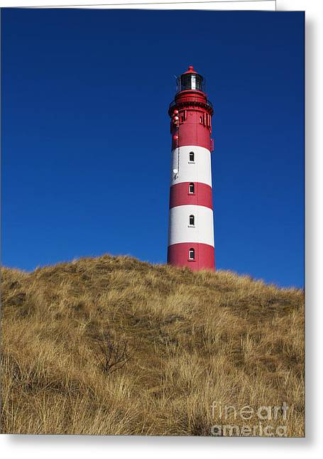 Lighthouse Greeting Cards - Amrum Lighthouse Greeting Card by Angela Doelling AD DESIGN Photo and PhotoArt