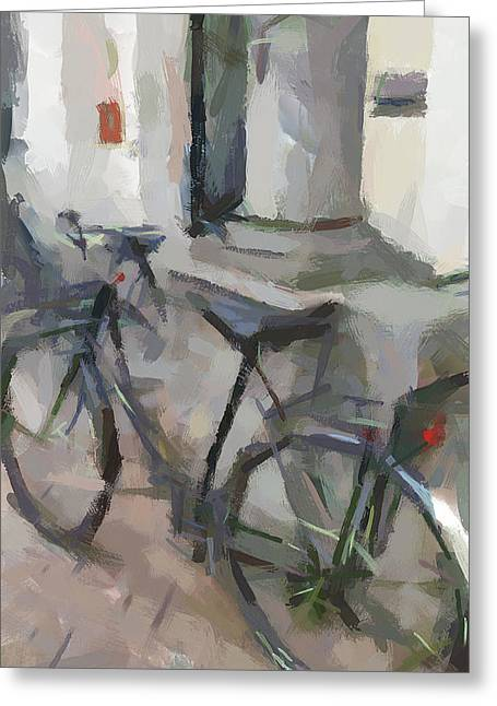 Old Town Digital Greeting Cards - Amsterdam Bike Greeting Card by Yury Malkov