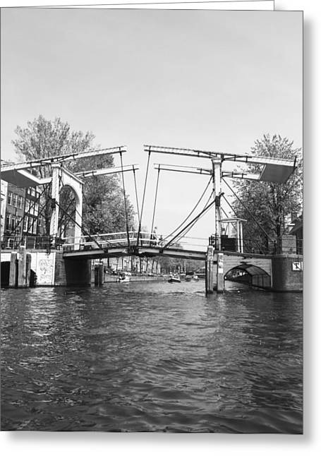 Brdige Greeting Cards - Amsterdam Bridge Greeting Card by Nikol Black