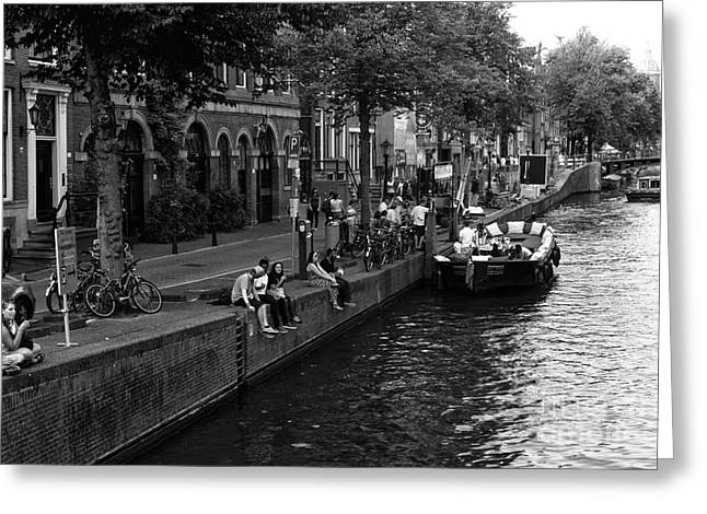 Dazed Greeting Cards - Amsterdam Canal Daze 2014 Greeting Card by John Rizzuto