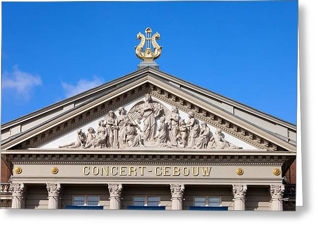 Sculpture Relief Greeting Cards - Amsterdam Concertgebouw Architectural Details Greeting Card by Artur Bogacki