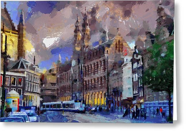 Amsterdam Daily Life Greeting Card by Georgi Dimitrov