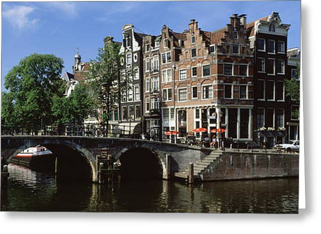 Historical Buildings Photographs Greeting Cards - Amsterdam, Holland, Netherlands Greeting Card by Panoramic Images