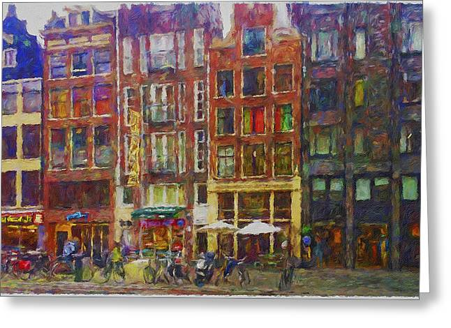 Old Town Digital Art Greeting Cards - Amsterdam Imressive Greeting Card by Yury Malkov