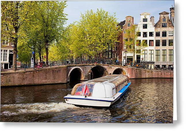 Old Home Place Greeting Cards - Amsterdam in Spring Greeting Card by Artur Bogacki