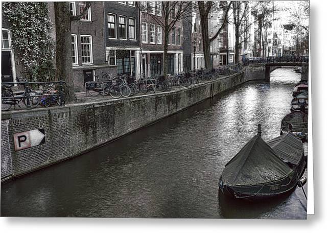 Gracht Greeting Cards - Amsterdam Greeting Card by Joana Kruse