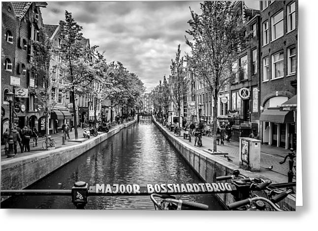 Grey Clouds Digital Art Greeting Cards - Amsterdam Greeting Card by Melanie Viola
