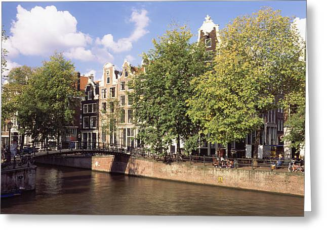 Visitors Greeting Cards - Amsterdam Netherlands Greeting Card by Panoramic Images
