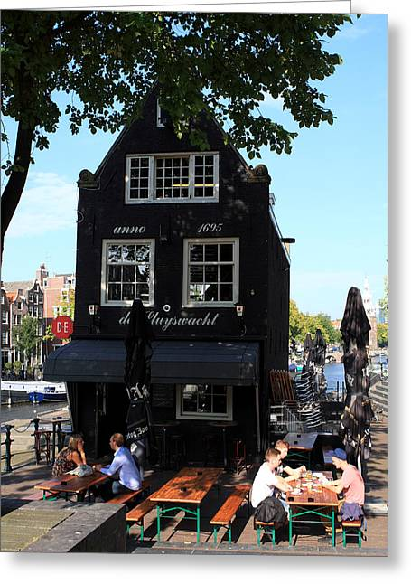 Eating Out Greeting Cards - Amsterdam Pubs Greeting Card by Aidan Moran
