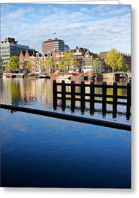 Old Home Place Greeting Cards - Amsterdam River View Greeting Card by Artur Bogacki