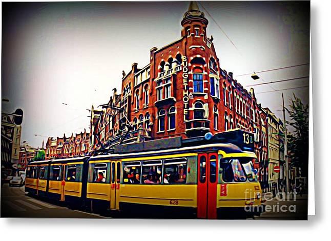 Amsterdam Transportation Greeting Card by John Malone