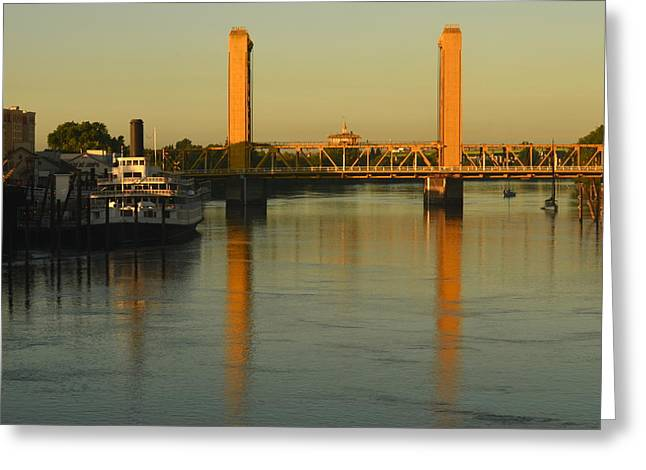 Railroad Tug Greeting Cards - Amtrak View Greeting Card by Jeri lyn Chevalier