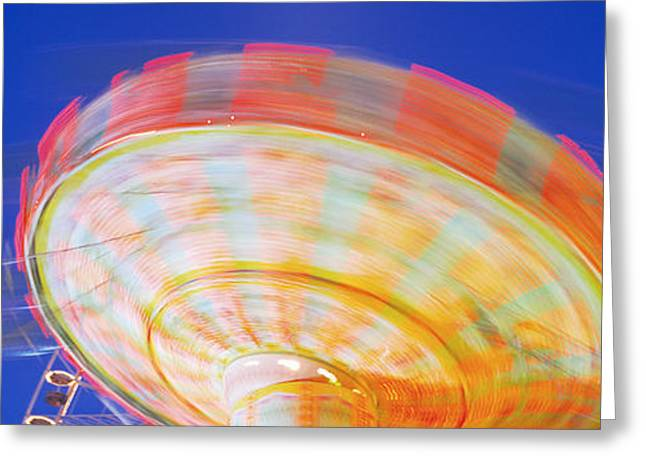 Amusement Ride Greeting Cards - Amusement Park Stuttgart Germany Greeting Card by Panoramic Images