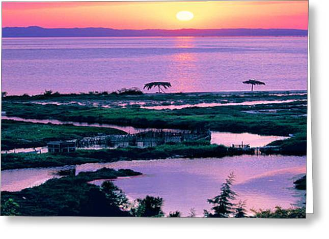 Boats On Water Greeting Cards - Amvrakikos gulf Greeting Card by George Rossidis