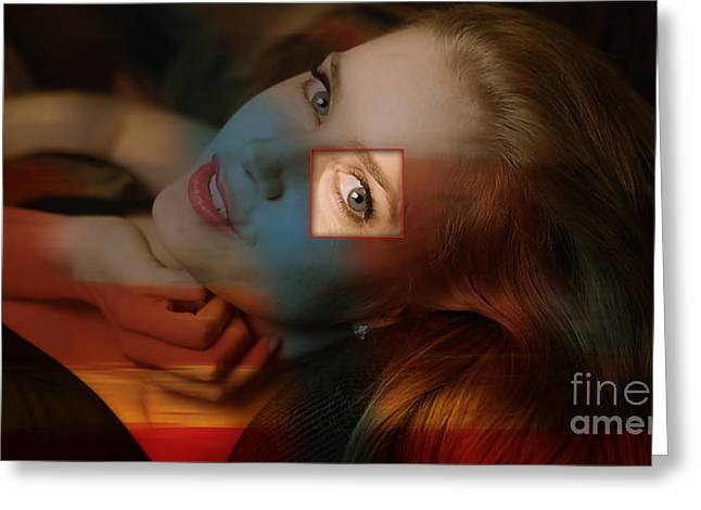 At Arrivals Greeting Cards - Amy Adams Greeting Card by Marvin Blaine