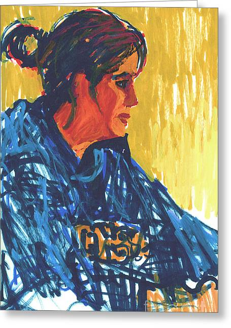 Normal Paintings Greeting Cards - Amy at Jeffs Greeting Card by Candace Lovely