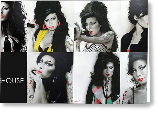 'amy Eternal' Greeting Card by Christian Chapman Art