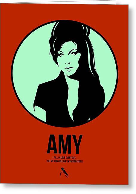 Amy Poster 1 Greeting Card by Naxart Studio