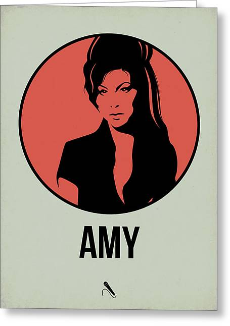 Amy Poster 2 Greeting Card by Naxart Studio
