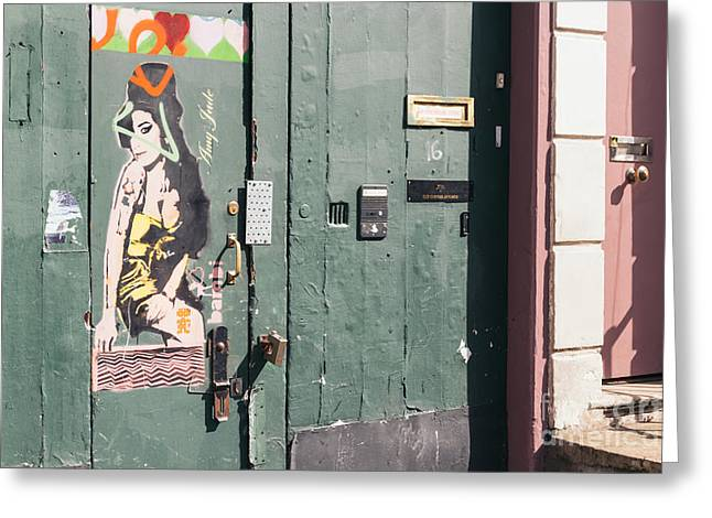 Streetphotography Greeting Cards - Amy Winehouse London Greeting Card by Ivan Di Marco
