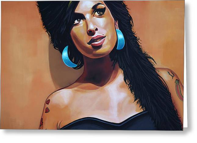 Amy Winehouse Greeting Card by Paul  Meijering