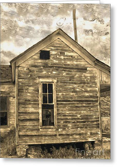 Haunted Shack Greeting Cards - An Abandoned Old Shack Greeting Card by Gregory Dyer