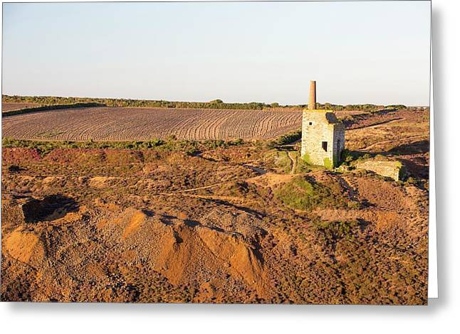 An Abandoned Tin Mine In Porthtowan Greeting Card by Ashley Cooper