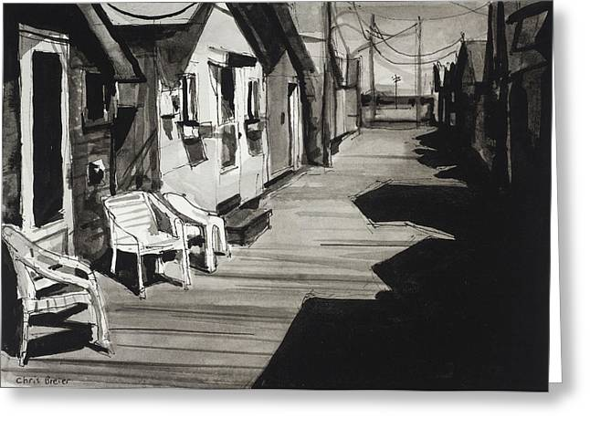 Finger Lakes Drawings Greeting Cards - An Afternoon at Canandaigua Lake Greeting Card by Chris Breier