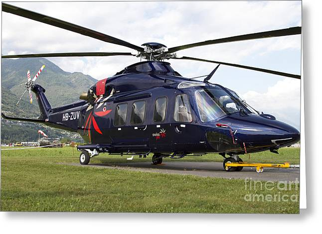 First-class Greeting Cards - An Agustawestland Aw139 Utility Greeting Card by Luca Nicolotti