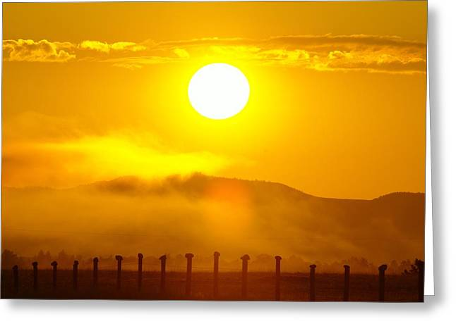 Alberta Foothills Landscape Greeting Cards - An Alberta Sunrise Greeting Card by Jeff  Swan