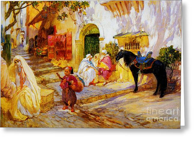 An Algerian Street  Greeting Card by Celestial Images